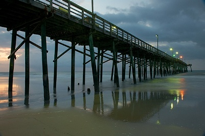 Idyll by the sea two north topsail beach north carolina for Topsail fishing pier